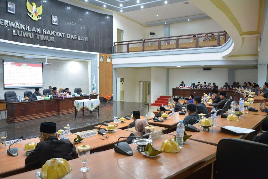 Suasana sidang Paripurna DPRD Luwu Timur